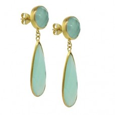 Multi Shape Blue Aqua Push Back 32 Cts Dangle Earrings