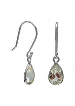 Pear Shape White Topaz Ear Wire 1.65 Cts Dangle Earrings