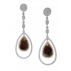 Brown Diamond Dangle Earring