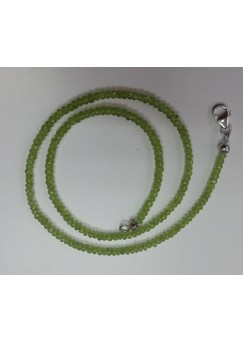 Round Green Peridot Sterling Silver Cts Necklace