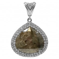 Grey Diamond Slice Pendant