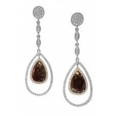 Brown Diamond Dangle Earring