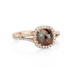 Chocolate Brown Diamond Slice ring
